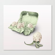 In which dinosaur eggs are hardly fit for human consumption  Canvas Print
