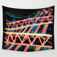 industrial Wall Tapestries featuring NEON INDUSTRIAL by JESSIE WEITZ