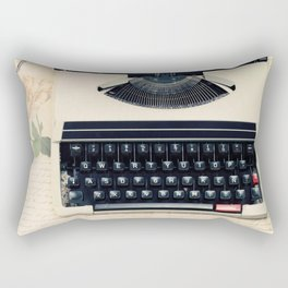 Typewriter (Retro and Vintage Still Life Photography) Rectangular Pillow