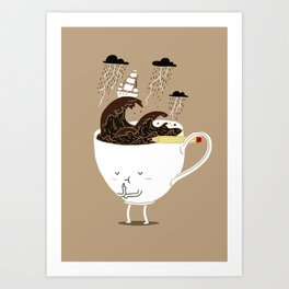 Brainstorming Coffee Art Print