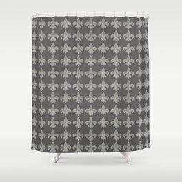 Fleur de lis gray on gray Shower Curtain