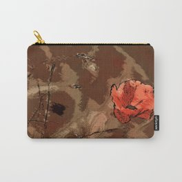 Poppy flower illustration, red graphic, floral print Carry-All Pouch