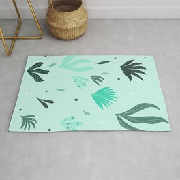 Underwater Leaves Jungle #1 #kids #decor #art #society6 Rug
