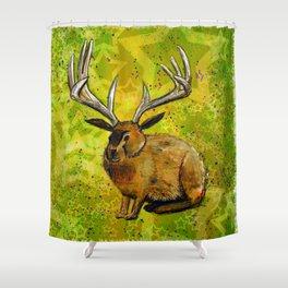 Jackalope Shower Curtain