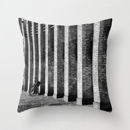 Brick, Cobblestone And A Bike Throw Pillow