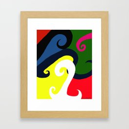 Abstract Wave Riot Framed Art Print