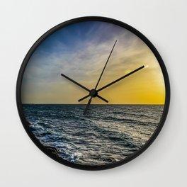 Sunset at Jaffa  Wall Clock