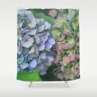 hydrangea Shower Curtains featuring hydrangea by EnglishRose23
