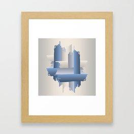 stone brick city Framed Art Print