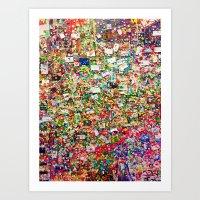Pike Place Gum Wall, Seattle, WA Art Print