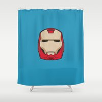 ironman Shower Curtains featuring #6 Ironman by Brownjames Prints