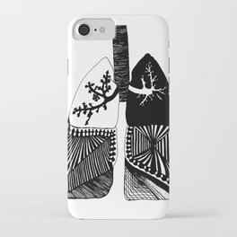 Particle Filtration - Lungs - Respiratory System iPhone Case