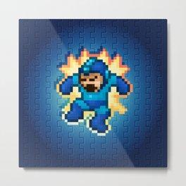 Megaman Damage Metal Print