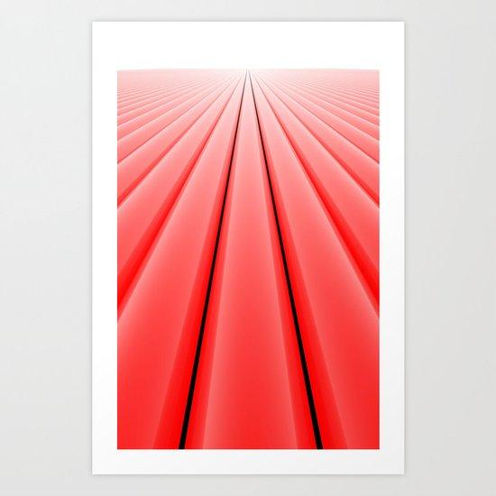 Converge, Red Art Print