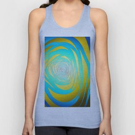 Simple Spiral Blue-Yellow Unisex Tank Top