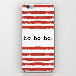 red stripes-ho ho ho iPhone Skin
