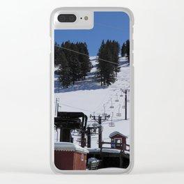 1970s Ski Lift Clear iPhone Case