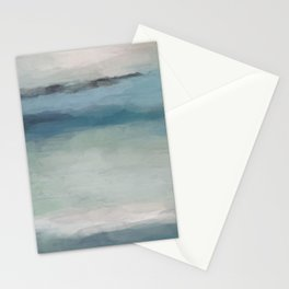 Abstract Painting, Light Blue, Teal, Sage Green Prints Modern Wall Art, Affordable Stylish Stationery Cards