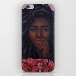 Red Orchid iPhone Skin