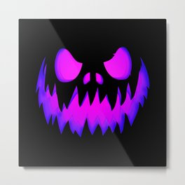 Purple Halloween Pumpkin Metal Print