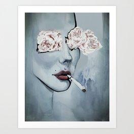 Thank you 4 smoking Art Print