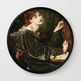 Dante Gabriel Rossetti - Veronica Veronese Wall Clock