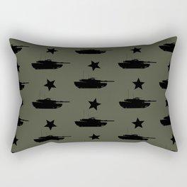 M1 Abrams Tank Pattern Rectangular Pillow
