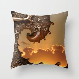 Golden Sunrise in Byron Bay Throw Pillow