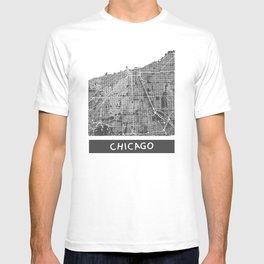 Chicago map orange T-shirt