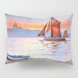 Thames Barge At Maldon England Pillow Sham