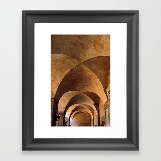 Symmetrical ceiling in Rome. Framed Art Print