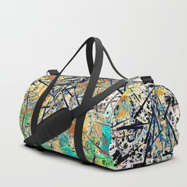 Modern Etching Abstract Design Duffle Bag