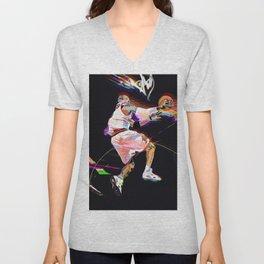 Philadelphia Sports Icon #3 Basketball Player Poster Unisex V-Neck
