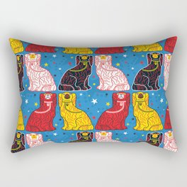 staffordshire dogs Rectangular Pillow