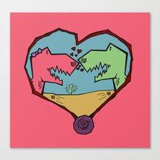 DINO LOVE  Canvas Print