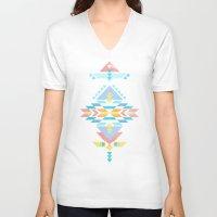 navajo V-neck T-shirts featuring Navajo by Marta Olga Klara