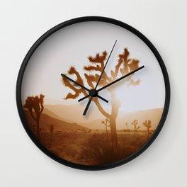 Joshua Tree X / California Desert Wall Clock