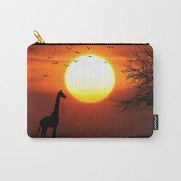 Giraffe sundown Carry-All Pouch