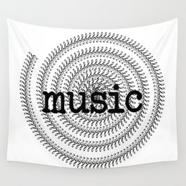 Sol keys and music Wall Tapestry