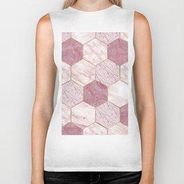 Deep rose marble honeycomb Biker Tank