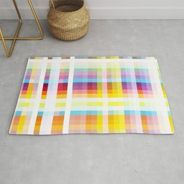 Myling - Colorful Decorative Abstract Art Stripes Pattern Rug