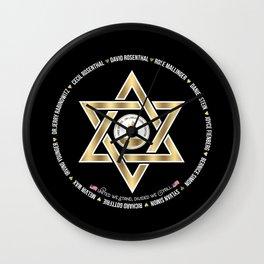 In Loving Memory Victim Names Tree Of Life Or L'Simcha Congregation Keep Sake (Black) Wall Clock