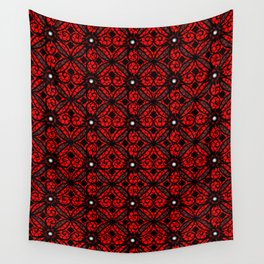 Red Gothic Wall Tapestry