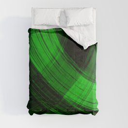 Iridescent arcs of malachite curtains of hanging flowing lines on velvet fabric.  Comforters