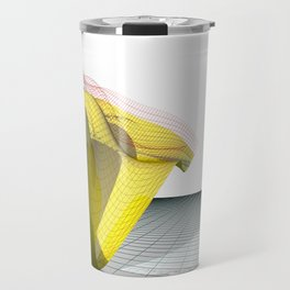Waved yellow surface Travel Mug