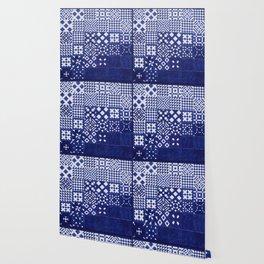 tile blue background Wallpaper