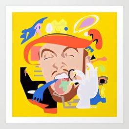 MAC MILLER---Face Art Art Print