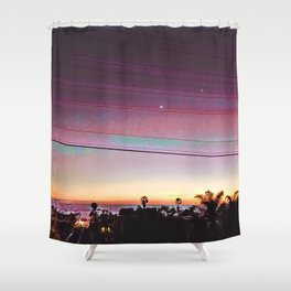 Cardiff Sunset Shower Curtain