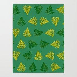 Ferns pattern Poster