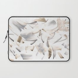 180630 Grey Black Brown Neutral Abstract Watercolour 10 | Watercolor Brush Strokes Laptop Sleeve